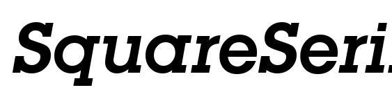 SquareSerif DemiItalic Font