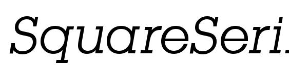 Шрифт SquareSerif Italic
