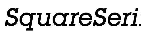 SquareSerif Medium Italic Font