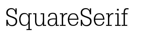 Шрифт SquareSerif