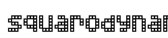 шрифт Squarodynamic 02, бесплатный шрифт Squarodynamic 02, предварительный просмотр шрифта Squarodynamic 02
