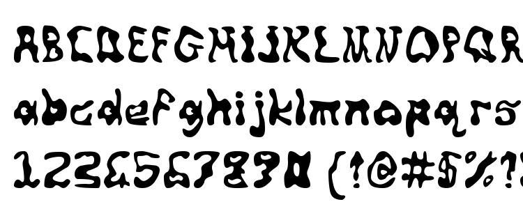 глифы шрифта Squiggly, символы шрифта Squiggly, символьная карта шрифта Squiggly, предварительный просмотр шрифта Squiggly, алфавит шрифта Squiggly, шрифт Squiggly