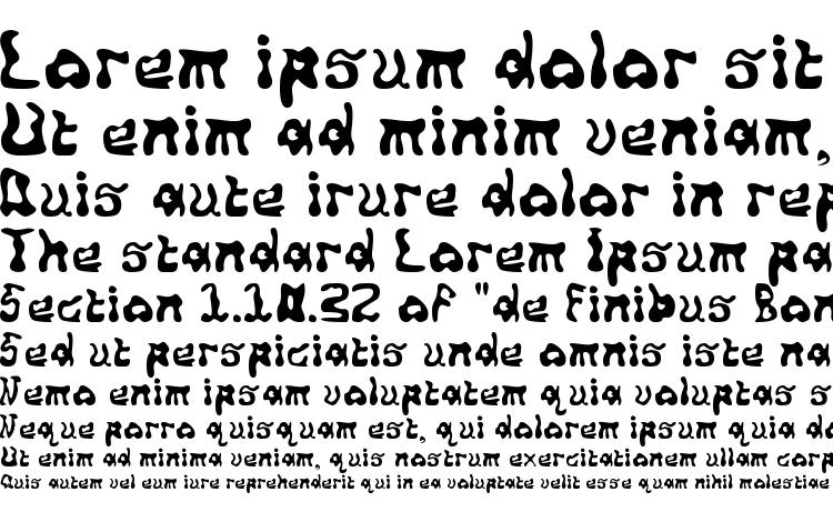 specimens Squiggly font, sample Squiggly font, an example of writing Squiggly font, review Squiggly font, preview Squiggly font, Squiggly font