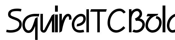 Шрифт SquireITC Bold