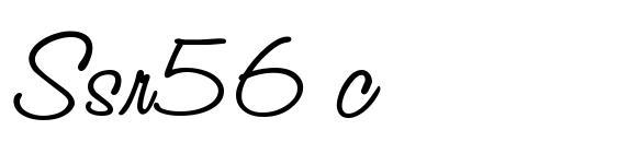 Шрифт Ssr56 c