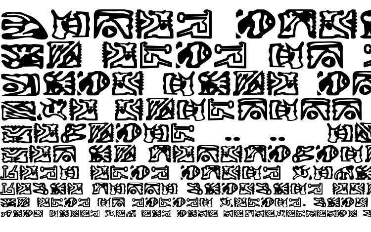 specimens St bajoran ideogram font, sample St bajoran ideogram font, an example of writing St bajoran ideogram font, review St bajoran ideogram font, preview St bajoran ideogram font, St bajoran ideogram font