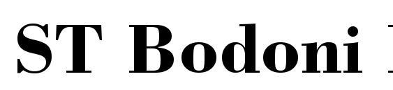 ST Bodoni Bold Font
