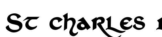 Шрифт St charles dark