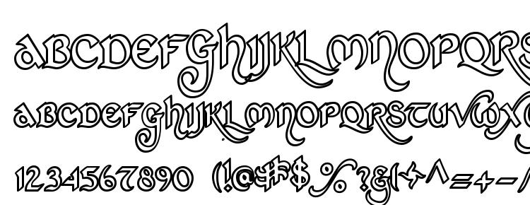 glyphs St charles hollow font, сharacters St charles hollow font, symbols St charles hollow font, character map St charles hollow font, preview St charles hollow font, abc St charles hollow font, St charles hollow font