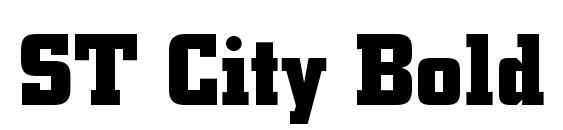 Шрифт ST City Bold