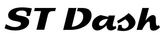 Шрифт ST Dash
