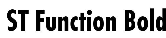 ST Function Bold Condensed Font