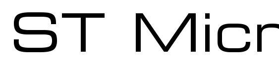 Шрифт ST MicroSquare Ex