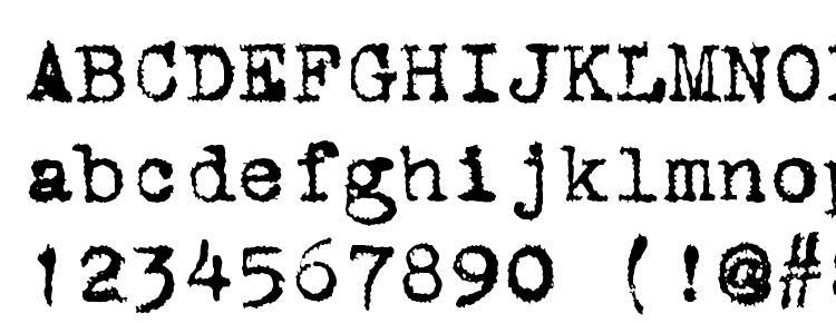 глифы шрифта ST Old Typewriter, символы шрифта ST Old Typewriter, символьная карта шрифта ST Old Typewriter, предварительный просмотр шрифта ST Old Typewriter, алфавит шрифта ST Old Typewriter, шрифт ST Old Typewriter