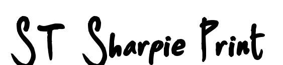 ST Sharpie Print Font