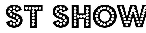 шрифт ST Showtunes, бесплатный шрифт ST Showtunes, предварительный просмотр шрифта ST Showtunes