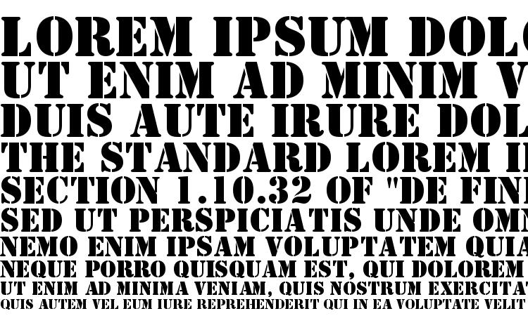 specimens ST Stencil font, sample ST Stencil font, an example of writing ST Stencil font, review ST Stencil font, preview ST Stencil font, ST Stencil font