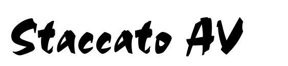 Staccato AV font, free Staccato AV font, preview Staccato AV font