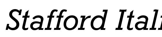 Шрифт Stafford Italic