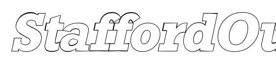 Шрифт StaffordOutline Italic