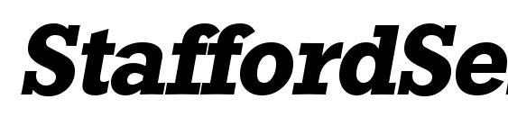 Шрифт StaffordSerial BoldItalic