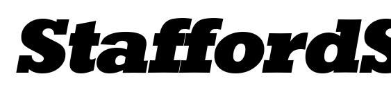 StaffordSerial Heavy Italic Font