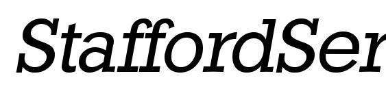 Шрифт StaffordSerial Italic