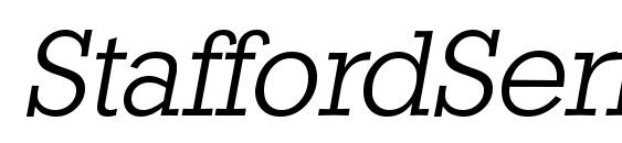 Шрифт StaffordSerial Light Italic
