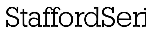 StaffordSerial Light Regular Font