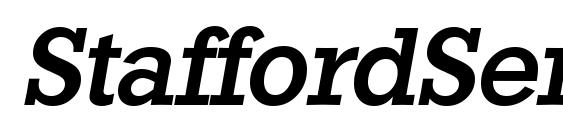 StaffordSerial Medium Italic Font