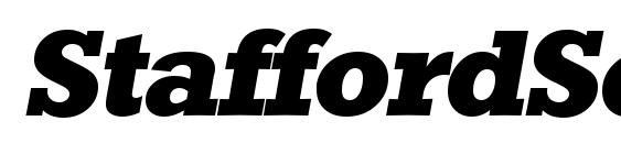 Шрифт StaffordSerial Xbold Italic