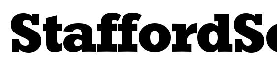 StaffordSerial Xbold Regular Font
