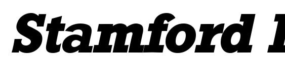 Шрифт Stamford Heavy SF Bold Italic
