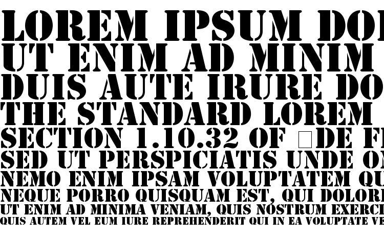specimens Stamp regular font, sample Stamp regular font, an example of writing Stamp regular font, review Stamp regular font, preview Stamp regular font, Stamp regular font