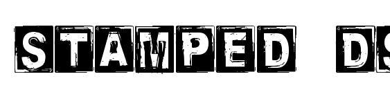 Stamped dsg font, free Stamped dsg font, preview Stamped dsg font