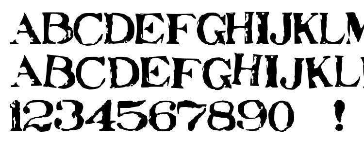 глифы шрифта Stampede, символы шрифта Stampede, символьная карта шрифта Stampede, предварительный просмотр шрифта Stampede, алфавит шрифта Stampede, шрифт Stampede