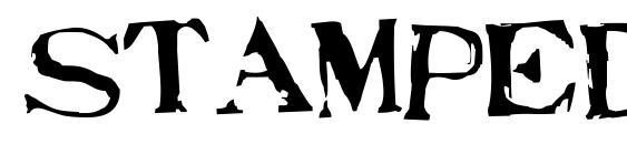 шрифт Stampede, бесплатный шрифт Stampede, предварительный просмотр шрифта Stampede