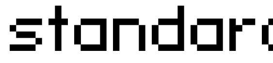 Шрифт standard 07 51