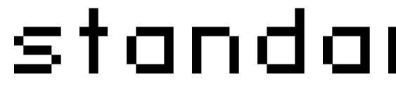 Шрифт standard 07 52