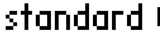 шрифт standard 07 55, бесплатный шрифт standard 07 55, предварительный просмотр шрифта standard 07 55