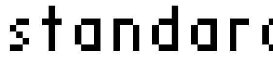 шрифт standard 07 56, бесплатный шрифт standard 07 56, предварительный просмотр шрифта standard 07 56