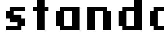шрифт standard 09 66, бесплатный шрифт standard 09 66, предварительный просмотр шрифта standard 09 66