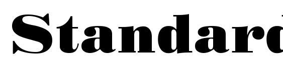 Standard poster regular Font