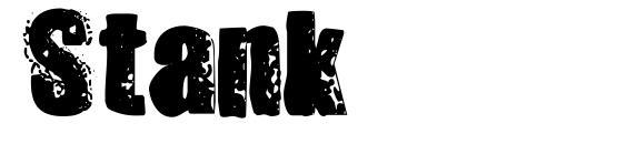 шрифт Stank, бесплатный шрифт Stank, предварительный просмотр шрифта Stank