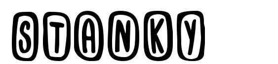 Шрифт Stanky