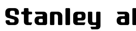 Stanley alphabet font, free Stanley alphabet font, preview Stanley alphabet font