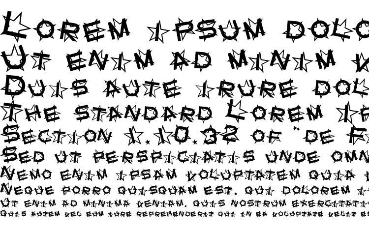 specimens Star Dust font, sample Star Dust font, an example of writing Star Dust font, review Star Dust font, preview Star Dust font, Star Dust font