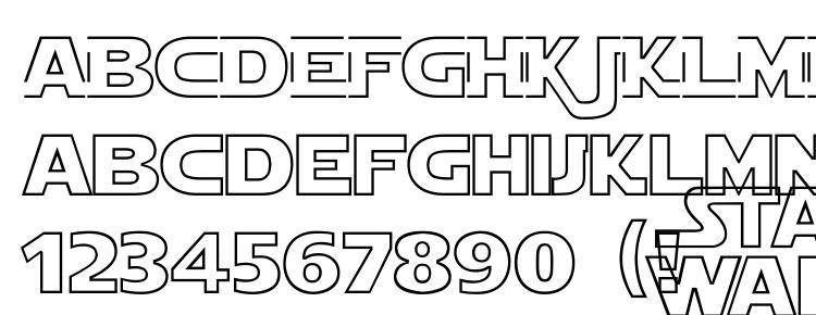 glyphs Star Jedi Hollow font, сharacters Star Jedi Hollow font, symbols Star Jedi Hollow font, character map Star Jedi Hollow font, preview Star Jedi Hollow font, abc Star Jedi Hollow font, Star Jedi Hollow font