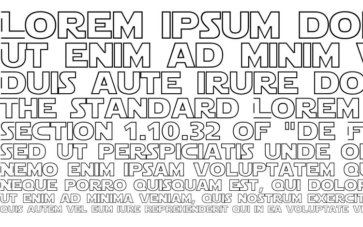 specimens Star Jedi Hollow font, sample Star Jedi Hollow font, an example of writing Star Jedi Hollow font, review Star Jedi Hollow font, preview Star Jedi Hollow font, Star Jedi Hollow font