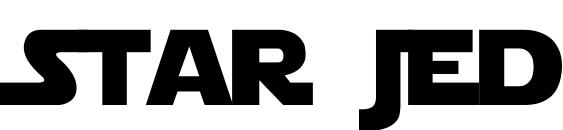 Шрифт Star Jedi Logo MonoLine